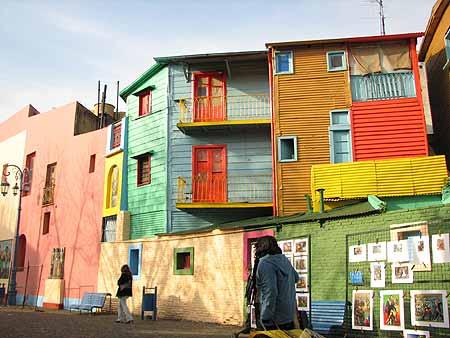 O Caminito, no Bairro de La Boca, em Buenos Aires