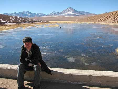 Lago Putana na região de Antofagasta, Chile