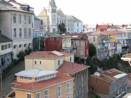 Vista da cidade alta, Valparaiso, Chile