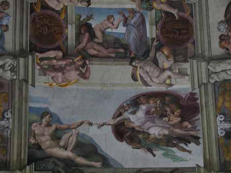 Detalhe da Capela Sistina, no Vaticano