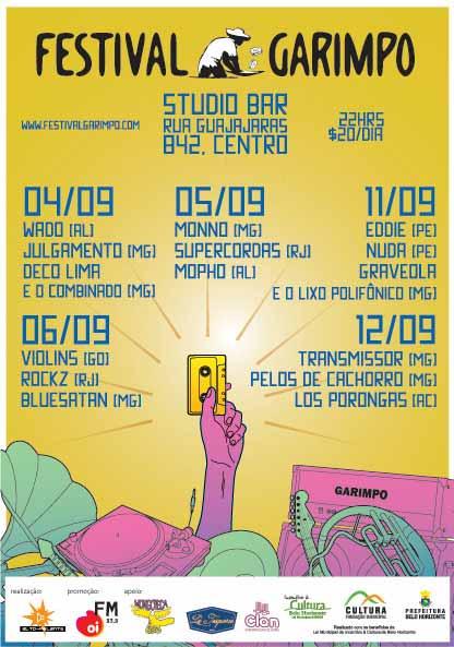 Festival Garimpo, setembro, Belo Horizonte