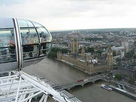 O Parlamento de Londres visto da London Eye