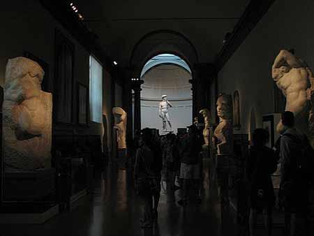 A Sala Michelangelo na Academia em Firenze