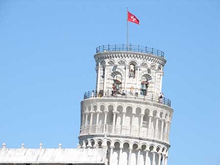 A Torre Pendente em Pisa