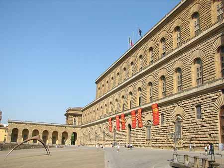 O Palácio Pitti em Firenze