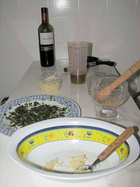 Fazendo molho pesto em casa, parte 1