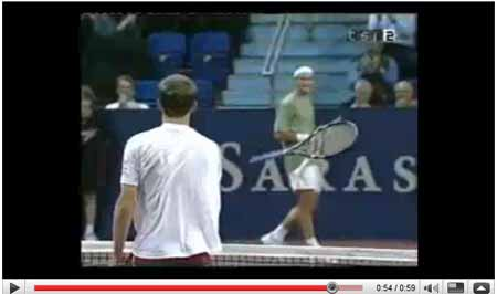 Roger Federer contra Andy Roddick