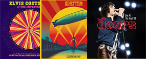 CDs: Costello, Led Zeppelin e Doors