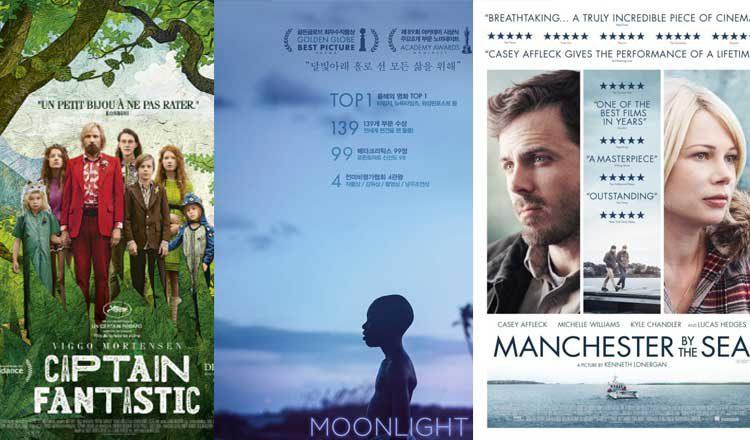Três Filmes Capitão Fantástico Moonlight E Manchester à
